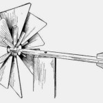 Homemade Wooden Toys – Eight-blade Windmill